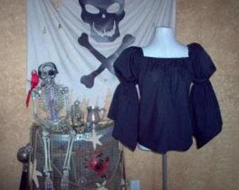 Black Pirate Renaisssance Chemise Shirt Other Colors Available