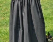 Womens BLACK SKIRT for Renaissance faires theaters plays