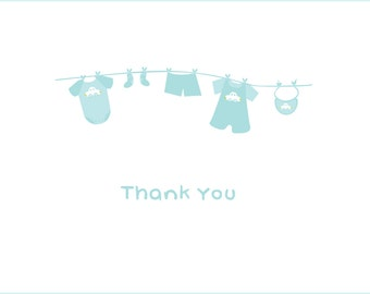 Baby Laundry Shower Thank You Notes