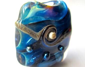 Handmade Lampwork Focal Bead, Khaosbeads, SRA