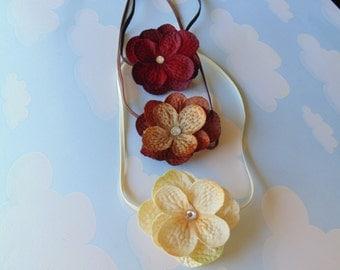 Set of three Hydrangea Flowers