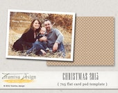 Christmas Card Template, 7x5 Photoshop Template,  INSTANT DOWNLOAD, sku10-16