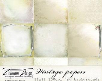 Christmas Scrapbook Papers, Digital Paper Pack 27 -Vintage Christmas