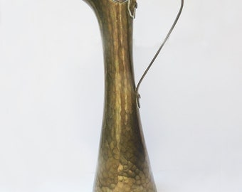 Vintage Russian Hand Hammered Brass Pitcher