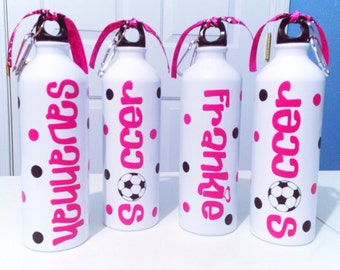 Personalized Team Sports Soccer Water Bottle