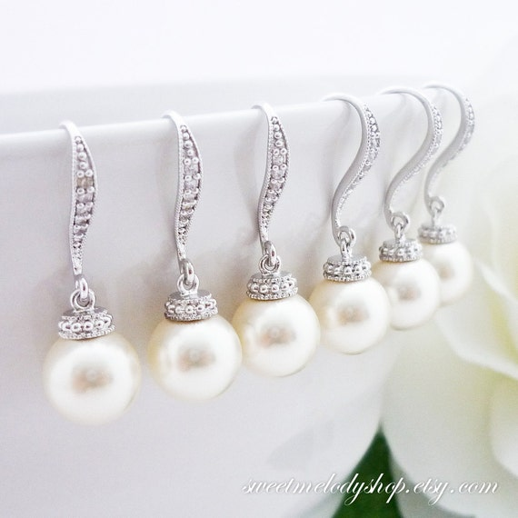OFF SET of 5 Wedding Jewelry Bridesmaid Gift Bridal Jewelry Bridesmaid ...