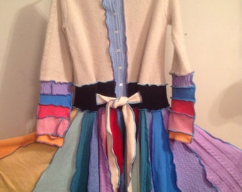 Cashmere Upcycled sweater coat, inspired by Katwise