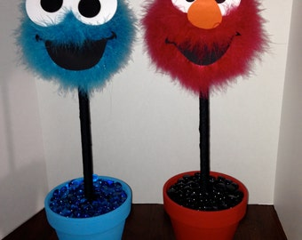 Elmo or cookie monster centerpiece