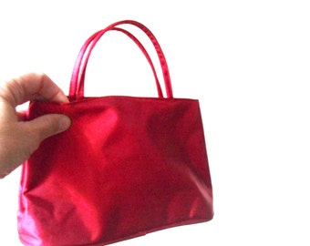 red vintage bag- bags and purses- red purse- little red satin bag- for wedding- for bridesmaid- Sweet Lake Vintage- red