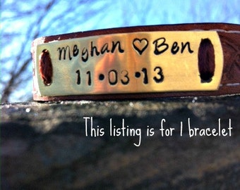 Couples Personalized Leather Bracelet , Boyfriend Gift , Girlfriend Gift , Leather Bracelet, Personalized Leather Bracelet