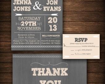 Wedding Invitation- DIY Printable Poster Style