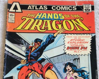 The Hands of the Dragon Atlas Comic Book No. 1 June 1975