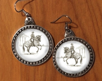 Dressage Horse Earrings available in 5 movements