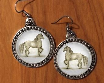 Horse earrings,Paso Fino Horse Earrings