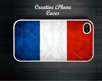 Vintage French Flag - iPhone 4, iPhone 4S, iPhone 5, iPhone 5S, iPhone 5C