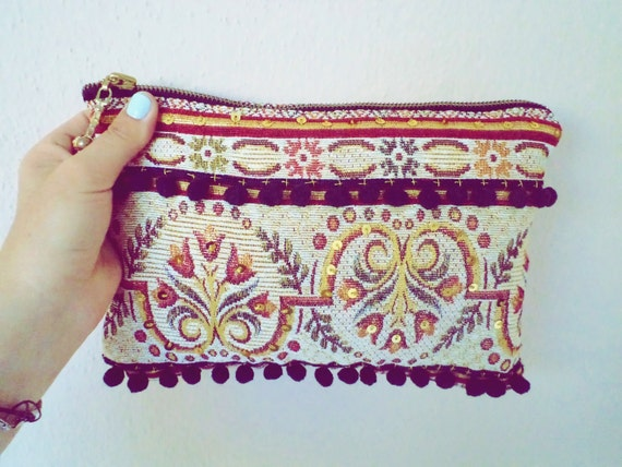 Summer Sale Turkish Traditional Tapestry Oriantal Clutch