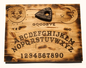 3d Sculptured Wall Hanging Wooden Ouija Board Art Rustic Sepia Vintage