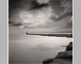Lighthouse Photography, Pinhole Photography, Black And White, Ludington, MI. Lighthouse, Fine Art Photography.