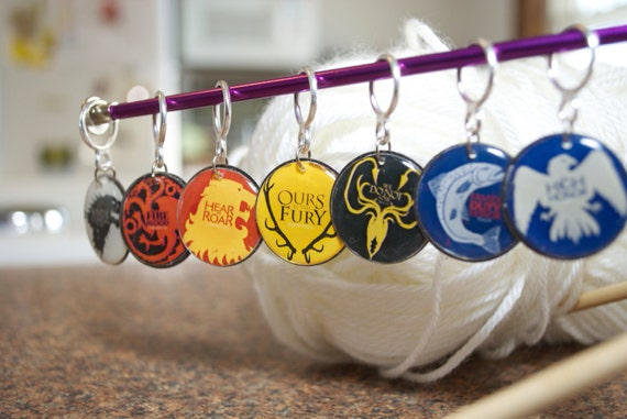 Game of Thrones House Sigil Stitch Markers (Set of 7)