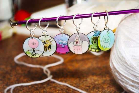 Regular Show Park Employees Stitch Markers (Set of 6)