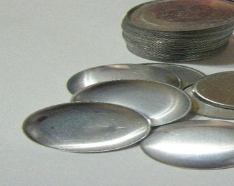"50 Aluminum Flat Back Self Cover Buttons Size 60 (1 1/2"")"