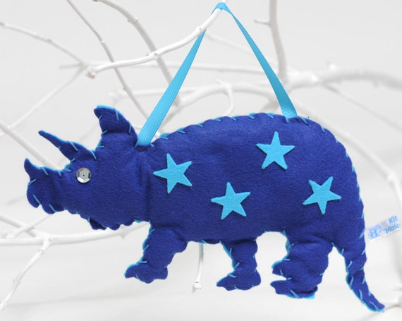 Felt Hanging Dinosaur Sewing Kit in Royal Blue