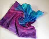 Baby blankie : hand dyed organic bamboo velour and minky - berry gradient and huckleberry