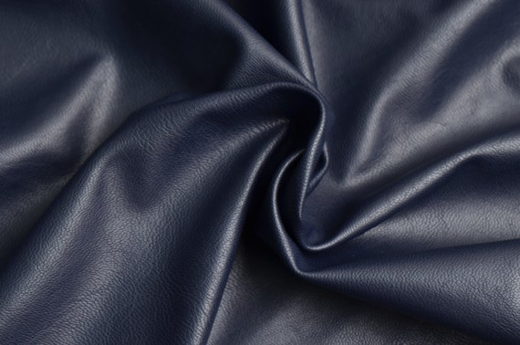 half yard navy faux leather fabric for making clothing