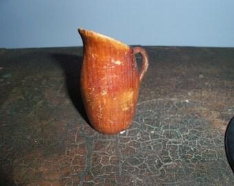 Miniature Wooden Pitcher
