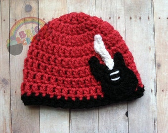 Baby Crochet Guitar Rock Star Newborn Hat Beanie