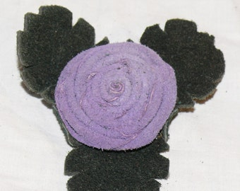 Lavender Button Rose Pin
