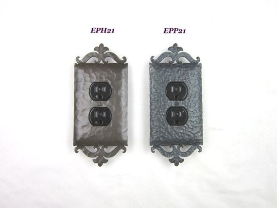 Ep21 Series Rustic Wrought Iron Switch Plate By