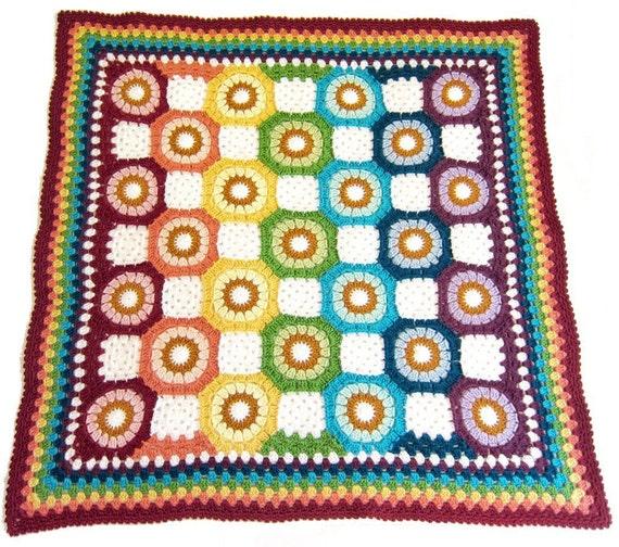 Octagon Baby Afghan Crochet Pattern : rainbow baby blanket rainbow octagon baby blanket crochet
