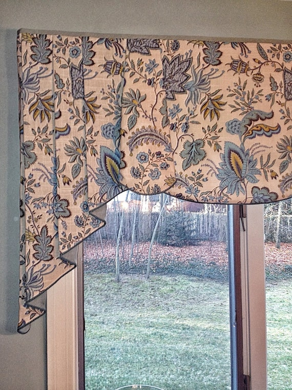 Custom Valance Peyton Hidden Rod Pocket Valance With Pleated