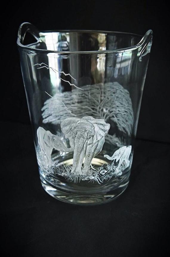 Elephant Walk, handblown crystal champagne/ice bucket