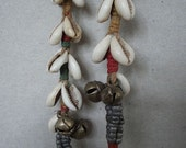 Banjara tribal armlet, bracelet or anklet from Rajasthan, Northern India.  Authentic vintage piece with Cowrie shells.