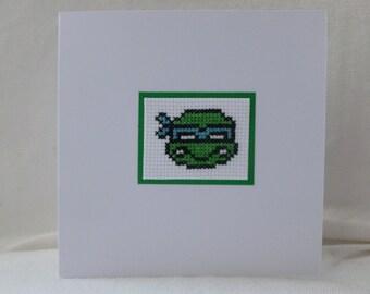 Teenage Mutant Ninja Turtles Cross Stitch Card