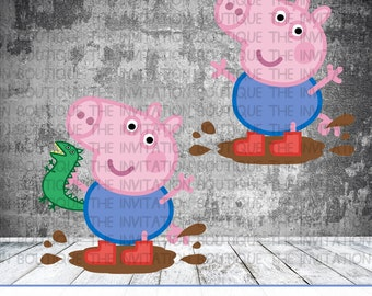 George Pig - Peppa Pig Inspired Clipart