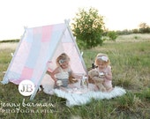 Patchwork Tent Cover Photography Props Tent Cover Kids Photo Prop Play Tent Cover Outdoor Photography Prop Indoor Photo Prop Pink/Mauve/Gray