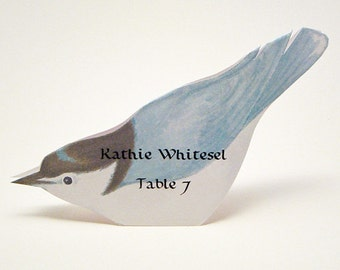 Bird Place Card - Nuthatch - Unique - Wedding Place Card - Event Escort Card - Customized - Nuthatch