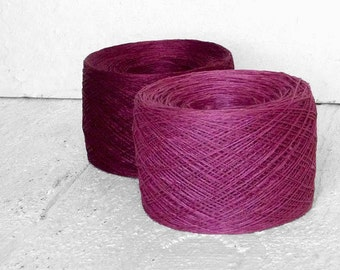 Radiant Orchid - laceweight linen yarn