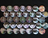 35 Bride of Horror Flatback or Pinback buttons 1 inch