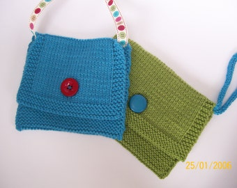 Erica shoulder purse knitting pattern