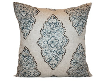 Decorative Toss Pillow - You Choose the Size - Blue Oatmeal Pillow Cover with Zipper Closure
