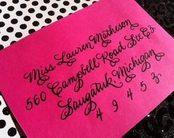 LOLA : Custom Wedding Calligraphy Envelope Addressing Burgues