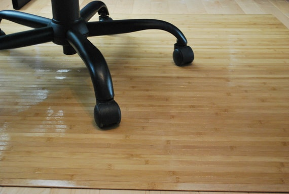 HONEY OAK Bamboo Chair Mat Office Floor Mat Hard Wood By Ecosleek