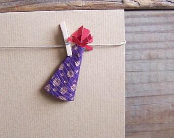 Birthday Hat Clothespin Card