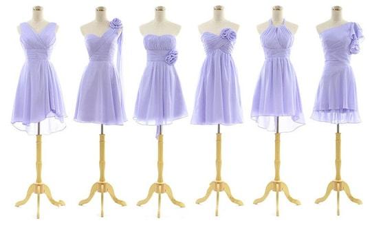 Different necklines bridesmaid dress many color by 50timeless for Different necklines for wedding dresses