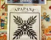 """Hawaiian quilt pattern """"Lauae fern """" 20 inch x 20 inch"""