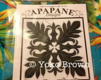 """Hawaiian quilt pattern """"Ulu(Bread fruit) leaf """" 20 inch x 20 inch"""